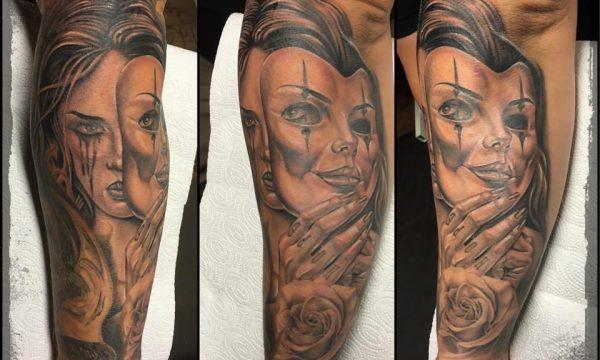 The Artistocrat Hamburg | Mask Artwork Tattoo by Ronny Kurth