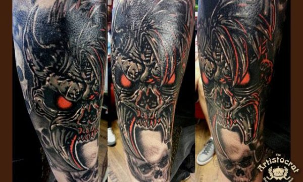 The Artistocrat Hamburg | Skull Tattoo by Csaba Kerekes