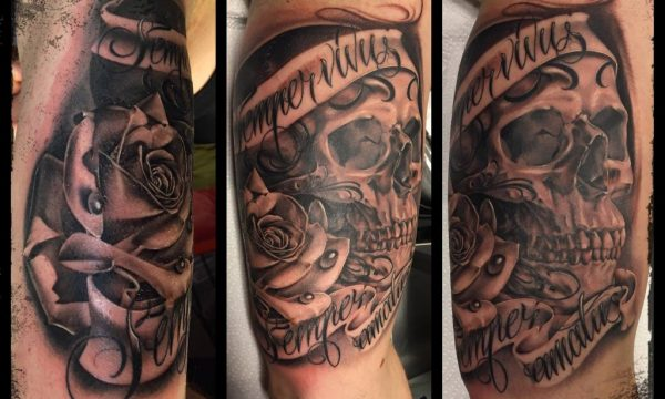 The Artistocrat Hamburg | Skull Tattoo by Ronny Kurth